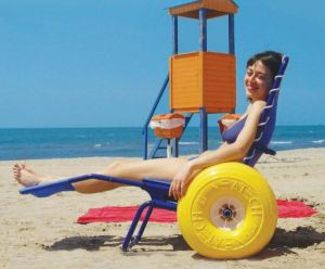 vacation beach wheelchair rental Spain