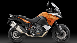 A Rugged Dual Sport Motorbike with Windscreen