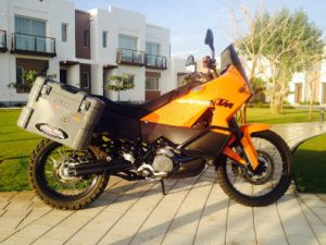 Orange KTM Motorcycle