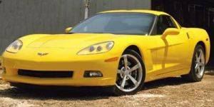Yellow C6 Chevrolet Coupe Corvette in Las Vegas