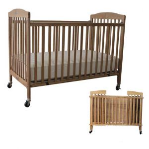 Full Sized Folding Crib Includes Mattress