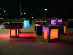 Lighted Poker Table Rentals in Houston, Texas