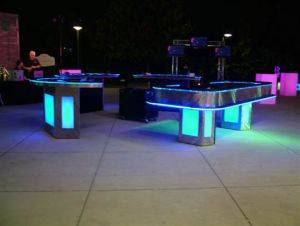 Lighted Poker Tables For Rent in Panama City, Florida