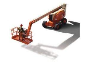 JLG boom lift rental with 60 foot reach