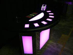 Lighted Half Moon Poker Table For Rent in San Antonio