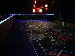 Dallas Lighted Craps Table Rentals in Texas