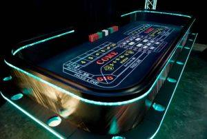 Dallas Lighted Craps Table For Rent in Texas