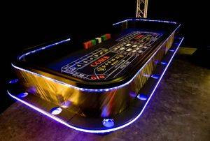 San Antonio Lighted Craps Table For Rent in Texas