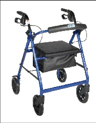 Rental Rollator Walker With Seat and Hand Brakes