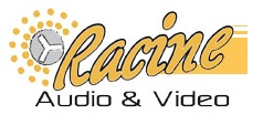 Logo For Racine Audio and Video