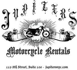 Jupiters Motorcycle Rentals Logo - New York