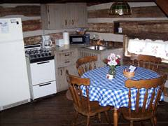 Cabin Logwood Kitchen Area