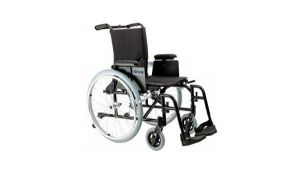 Manual Wheelchair with folding leg rests