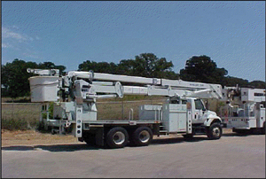 Flat Bed Bucket Lift Truck with 100ft Max Working Height