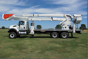 Cherry Picker with Flat Bed Body and 105foot aerial work platform