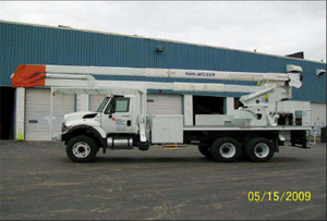 75ft Bucket Truck with Material Handling Crane and 6 x 6 Drive