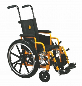 Yellow Pediatric Wheelchair With Legrest