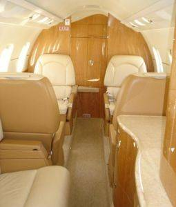 Interior Cabin Lexington Charter Flights in Kentucky