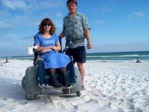 Karen and Mike Deming Beach Wheelchairs
