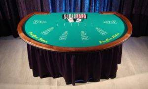 Red Dog Poker Table for Rental in Ohio