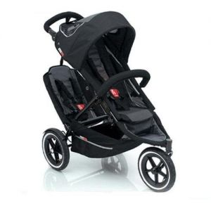 Dash Double Stroller With Quick Fold Mechanism