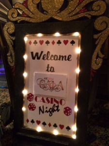 Welcome Sign To A Casino Party