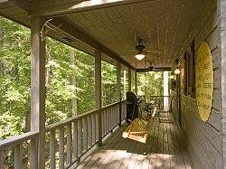 Scenic View Back Porch and Wooded Area