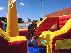 Bounce house for children and teens