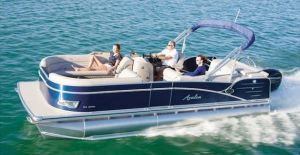 Available Pontoon Boat For Rent on Lake Clarke at Long Level
