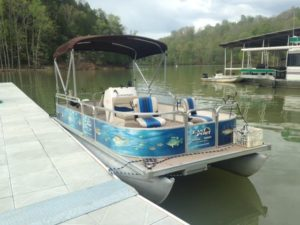 Dale Hollow Lake Fishing Pontoon Boat For Rent