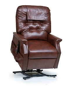 Brown Leather Reclining Lift Chair