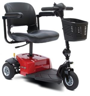 Mobility Scooter With Red Base