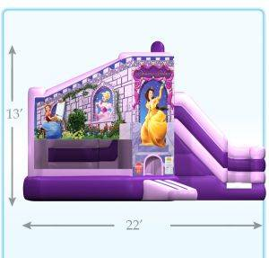 Louisville Inflatable Rentals - Princess Palace Bouncer - Kentucky Party & Event Equipment For Rent