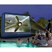 Oklahoma City Projector Screens for Rent - 144 Inch Inflatable Movie Screen