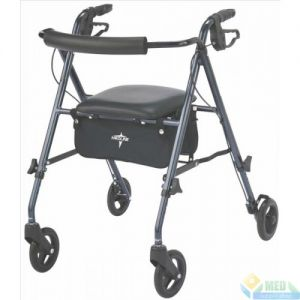 Rollator Walker With Seat and Storage Under Seat