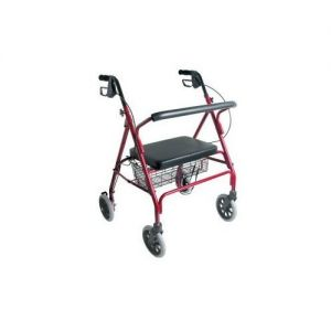 Rollator With Handbrakes and 4 Wheels