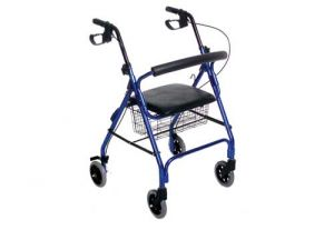 blue rollator walker