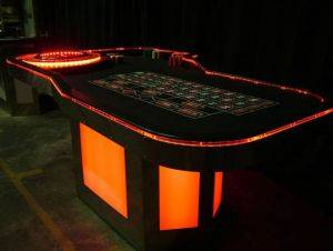 Houston Lighted Roulette Table For Rent in Texas