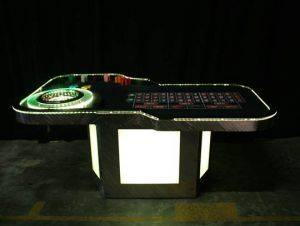 Lighted Roulette Table Rentals in Houston Texas