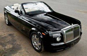 Interior Image of Rolls Royce Drophead For Rent