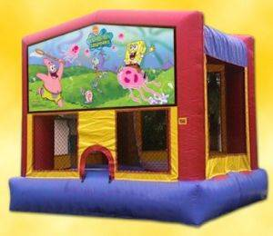 Louisville Inflatable Rentals - Sponge Bob Bouncer For Rent - Kentucky Party & Event Equipment
