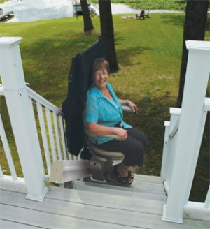Patient Stair Lift For Outdoors