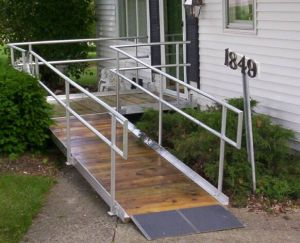 Ramp With Aluminum Railings