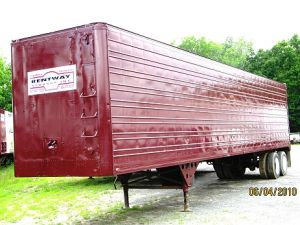 Red Enclosed Storage Trailer