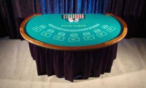 Caribean Stub Poker Table for Rental in Ohio