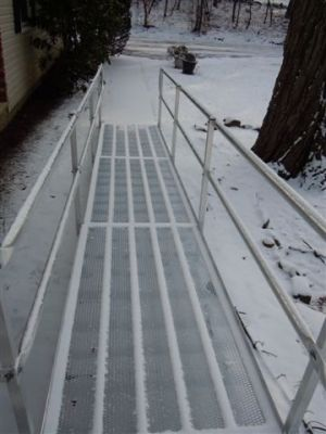 Snow Covered Aluminum Ramp