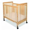 Compact Folding Crib With Mattress