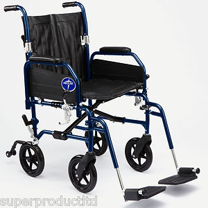 Transport Wheelchair With Cup holder