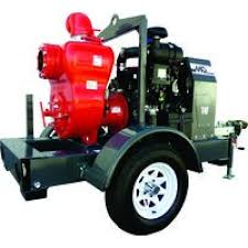 MultiQuip MQ62TDD Trash Pump on Towable Trailer For Rent