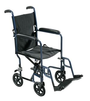Transport Wheelchair With 4 Casters